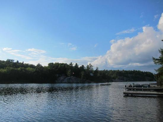 Charlton Lake Camp: View from cabin dock