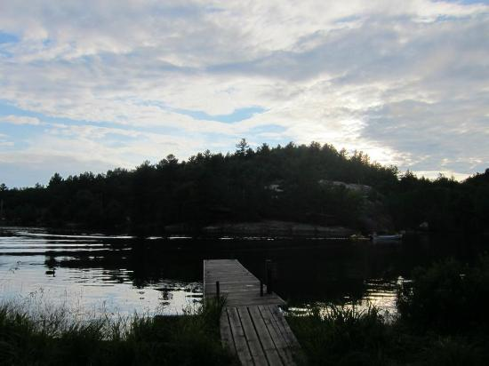 Charlton Lake Camp: View from cabin