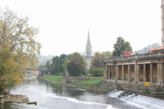 Bath Tourist Information Office: View from the Bridge above the river