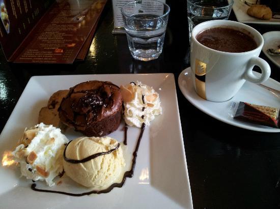 Palm Café : Fondant au chocolat maison