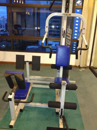 Pinnacle Lumpinee Park Hotel: gym (which is a joke!)