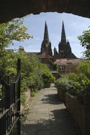 Erasmus Darwin House: Herb garden view