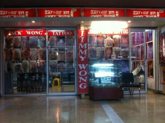 Jimmy wong tattoo artist picture of mbk center ma boon for Bangkok tattoo prices