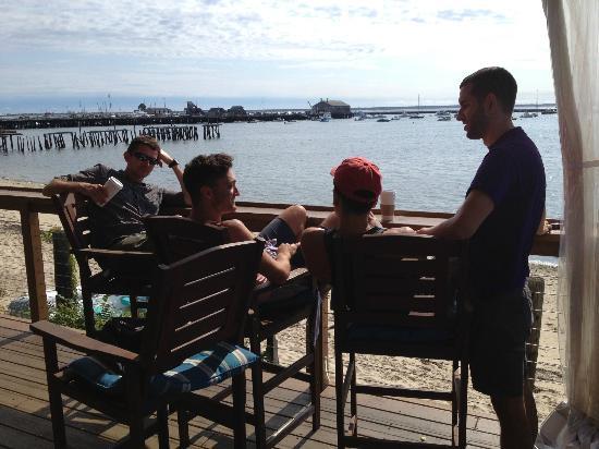 Connie's Bakery - Breakfast: Aqua Bar deck