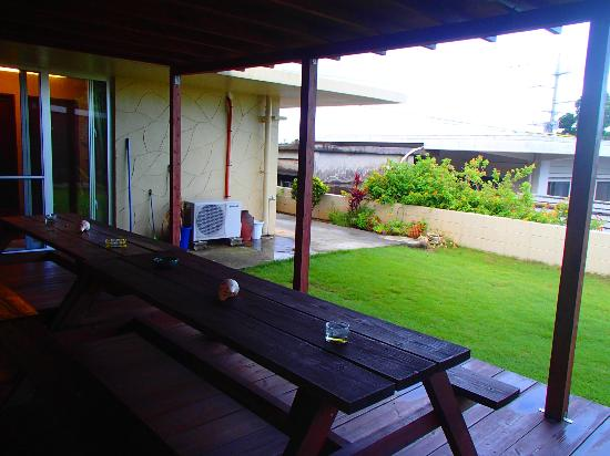 Guesthouse Hanahana: お気に入りの中庭