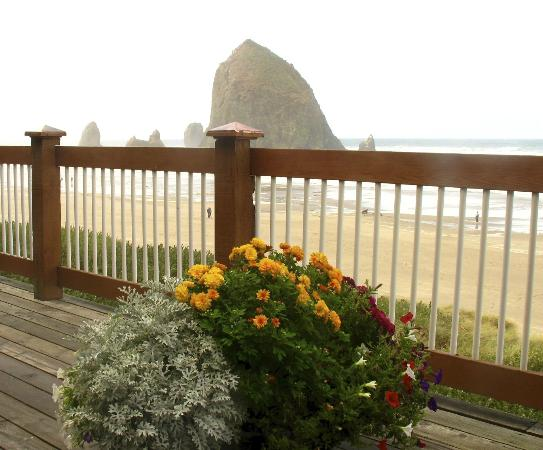 Hallmark Resort Cannon Beach: View from the motel