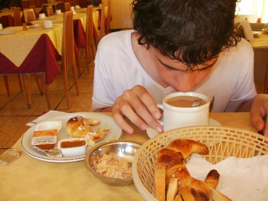 Hotel Venezia: Desayunando