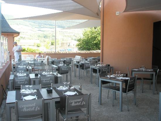 Cevenol Hotel: Terrasse du Restaurant