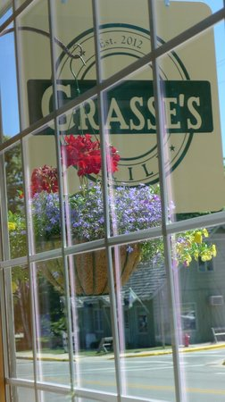 Grasse's Grill: A window seat on main street, Sister Bay