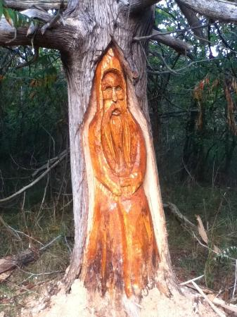 Inn at Cobble Beach Resort and Spa: Wood carving in the Enchanted Forest
