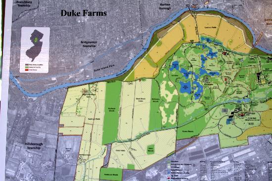 Duke Farms Hillsborough Duke Farms Farm Map