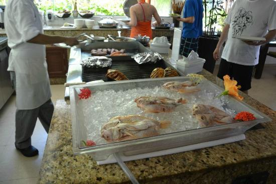 El Dorado Maroma, by Karisma: Lunch at Pepitos, fish theme