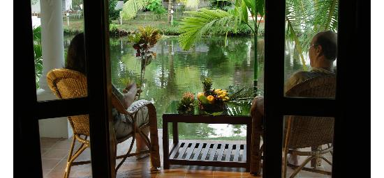 Coir Village Lake Resort: view from the room