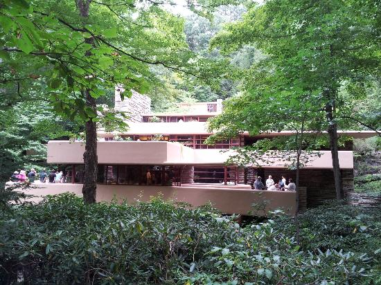 Fallingwater: Approaching The House. Fallingwater: House Was Built Over A  Waterfall Part 49