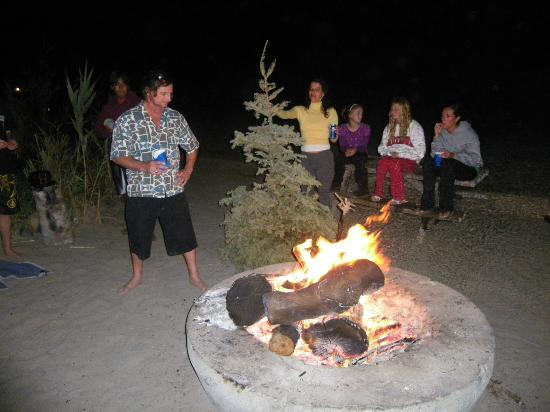 San Onofre State Beach : Burning the Xmas tree on the traditional Father's Day became a tradition for us