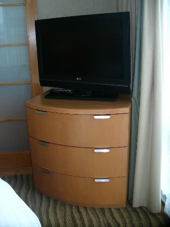 Delta Vancouver Suites: 2nd tv in bedroom