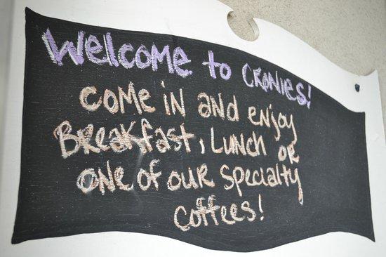 Cronies : Chalkboards!
