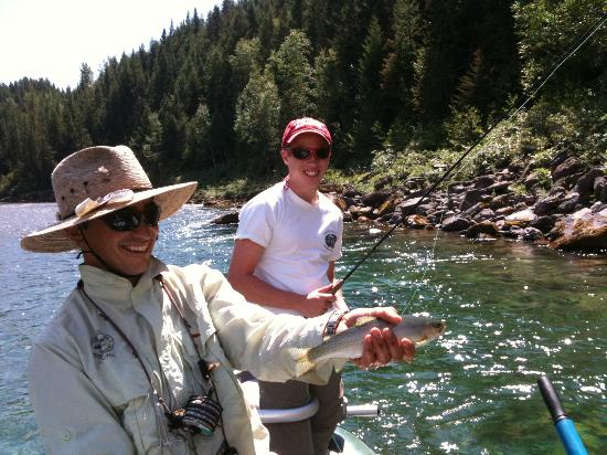 Fly fishing in the upper middle fork of the flathead river for Montana fishing trips