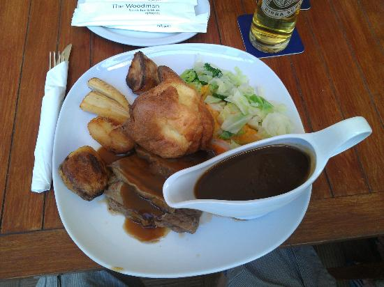 The Woodman Sports Pub and Restaurant : Beef Sunday lunch