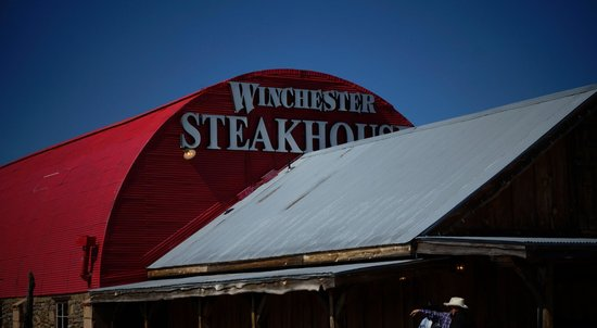 Winchester Steak House: Outside the front of the steakhouse