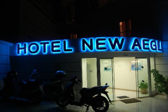 New Aegli Resort Hotel: Entrance around the back.