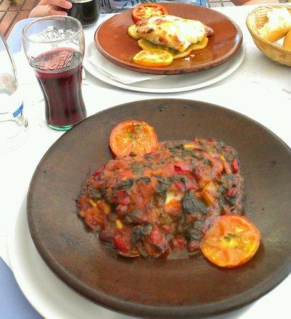Rhein Restaurant: Mero a la cazuela mallorquina !!! y bacalao con alioli que rico !!!!