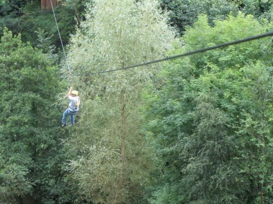 Blackwater Outdoor Activities: The zip line with me weighing it down