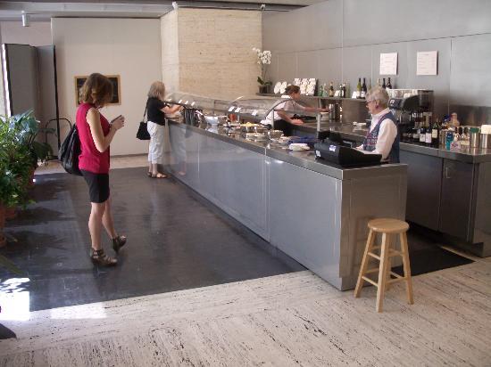 Buffet at the Kimbell: Counter with salad bar