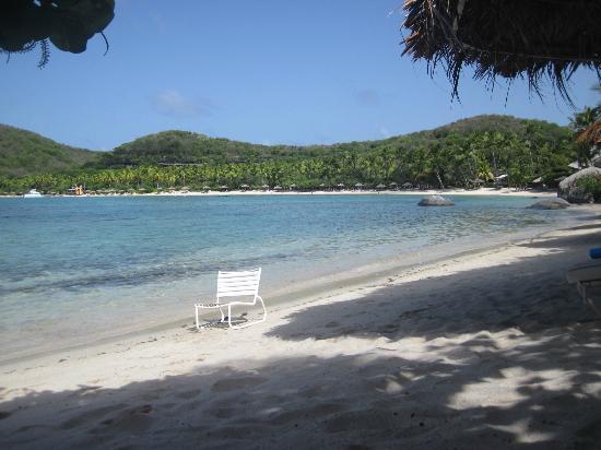 Rosewood Little Dix Bay: spiaggia ,ottima anche per snorkeling