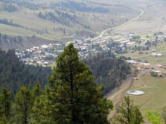 Bachelor Loop: View from above the town of Creede