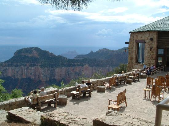 Grand Canyon Lodge North Rim This Is The Patio Scebic View Area Just Outside