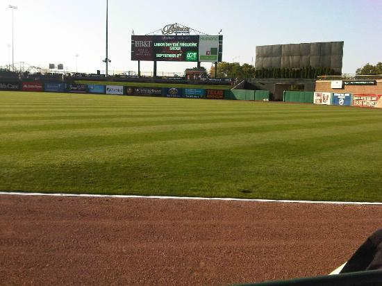 Louisville Slugger Field: View from the right outfield