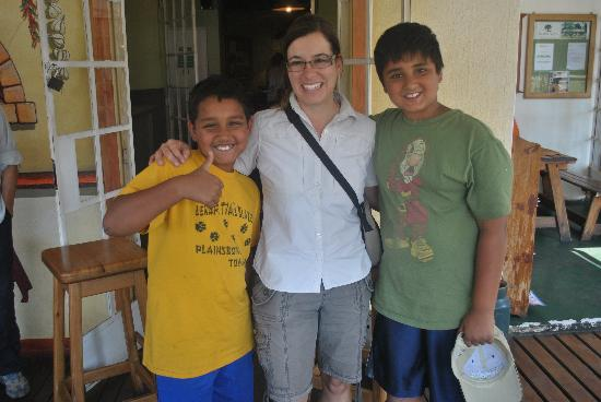 Tydon Safari Camp: The boys with Jackie- one of the excellent guides at camp