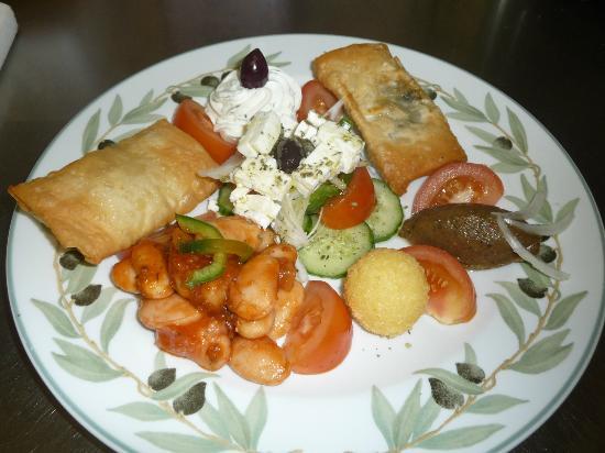 Mythos : mezze vegetarien
