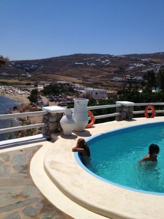 Panormos Village: view from pool 