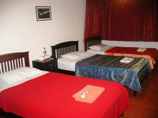 MHC-Guesthouse: Our room with three single beds.