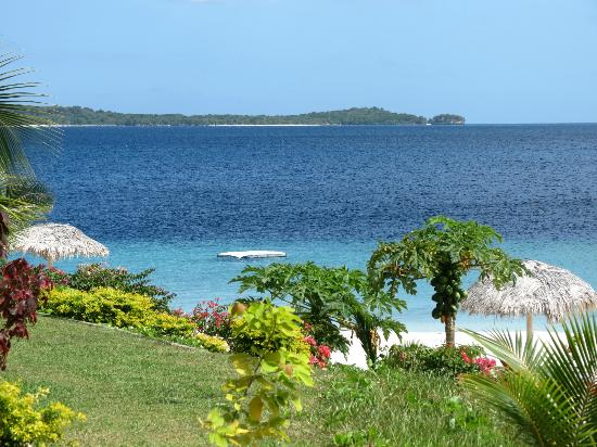 The Havannah, Vanuatu: View to the left of our Waterfront Villa