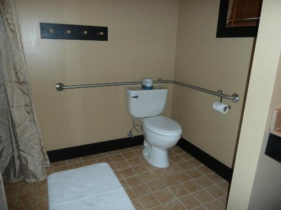 Sun Mountain Lodge: Toilet set up in Accessible Room