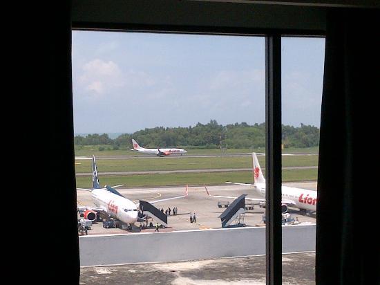 Hotel Santika Balikpapan: view from my bedroom window (room 251)