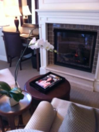 Montage Deer Valley: fireplace and setting area.