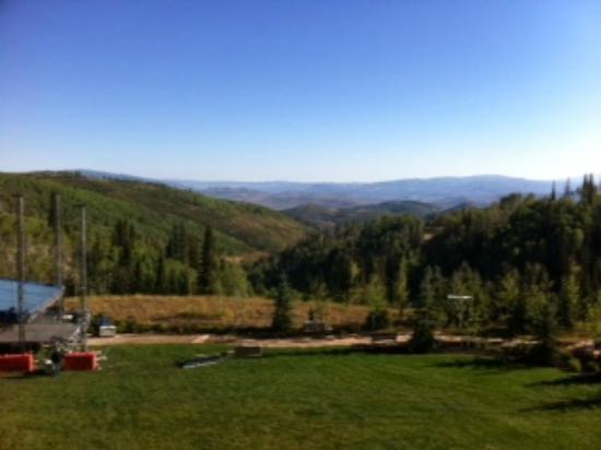 Montage Deer Valley: View from the gym.