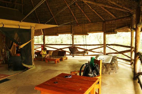 Mara Timbo Camp: Luxury tent with bath tub, swing, couch, desk, ...