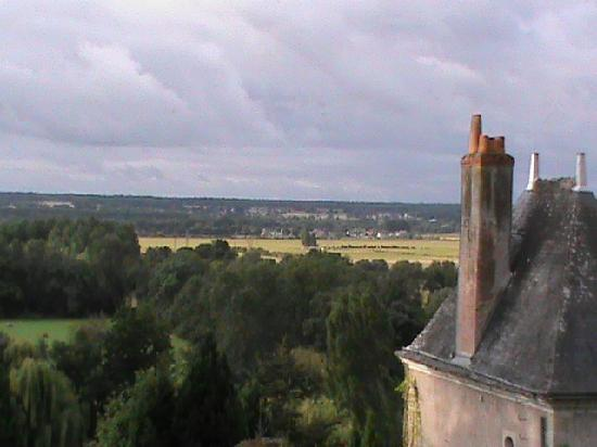 Chateau de Nazelles Amboise: il panorama dal giardino