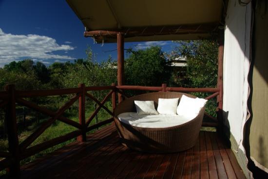 Ashnil Mara Camp: terrasse de la chambre
