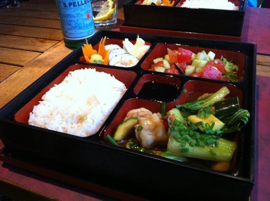 Mekong Restaurant & Bar: Bento-Box for CHF 22.-, yummi!