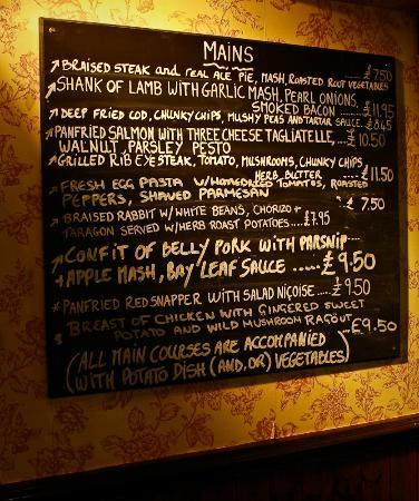 The Miners Arms: Just a sneak peek at our lovely menu (which is full of local and seasonal food)