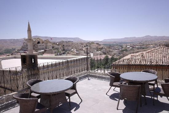 Has Cave Konak Hotel: Rooftop terrace