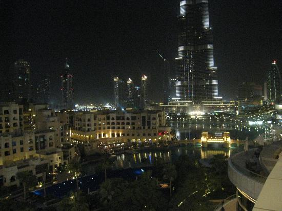 The Address Downtown Dubai - TEMPORARILY CLOSED: View at night from room balcony