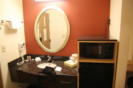 Rodeway Inn : le coin lavabo + micro-ondes
