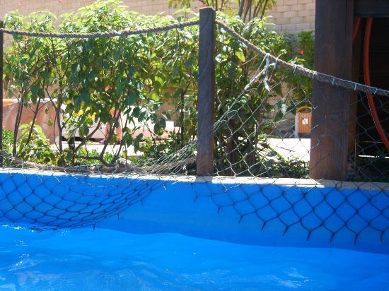 Coral Sea Aqua Club Resort : fence hanging down lazy river
